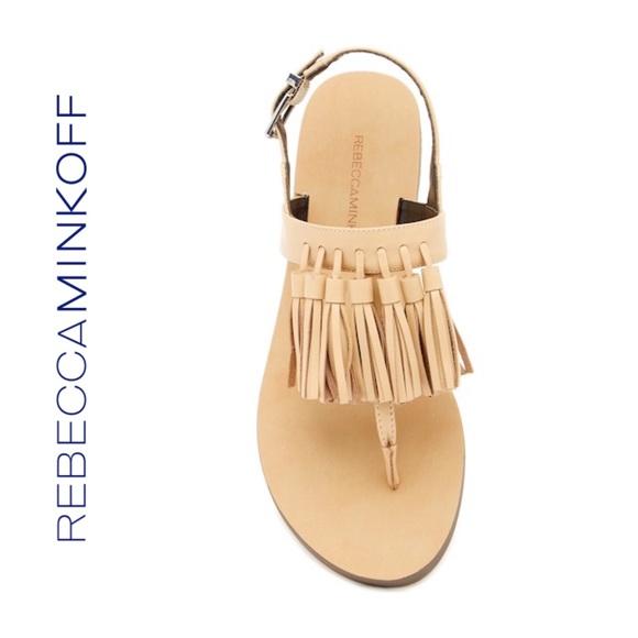 498a8b2501b1 Erin Leather Tassel Sandal. NWT. Rebecca Minkoff.  95  150. Size. 6